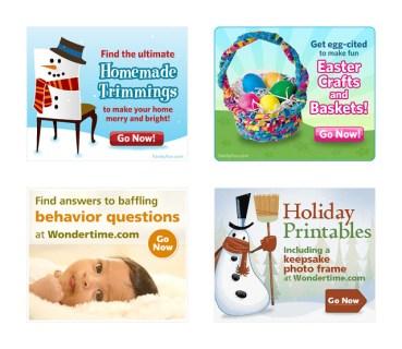 FamilyFun.com + Wondertime.com Banners