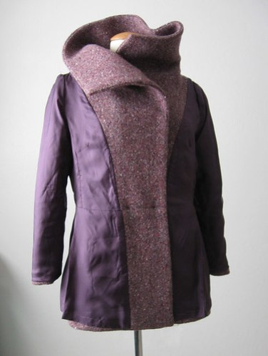 Burda lining plum coat