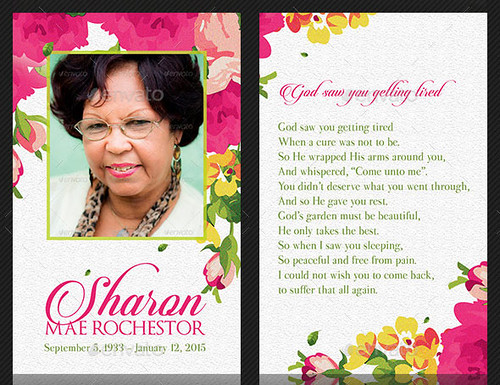 Floral Funeral Stationery Template Set