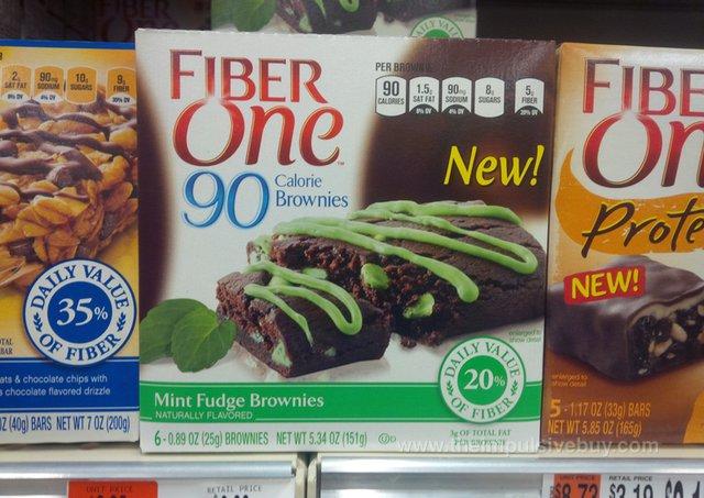 Fiber One 90 Calorie Mint Fudge Brownies