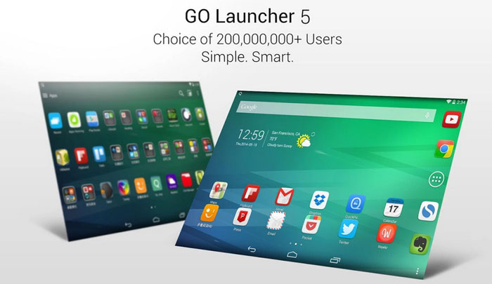 Customize Android Home Screen using Go Launcher
