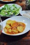 Red Bakalar served with lightly dressed salad