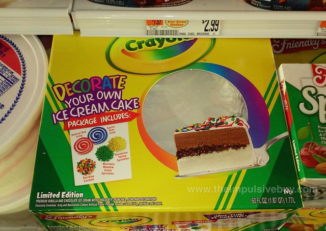 Friendly's Limited Edition Crayola Decorate Your Own Ice Cream Cake