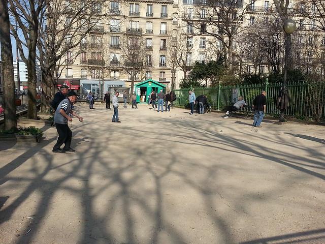 Spring in the Square des Batignolles, Paris