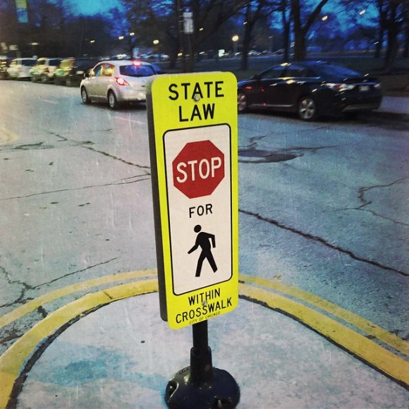 State Law - Stop For Pedestrians Within Crosswalk