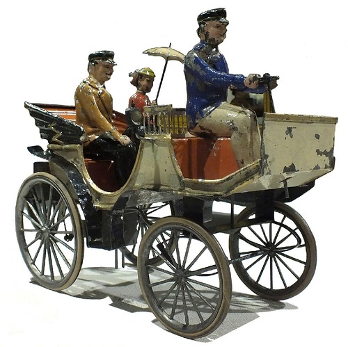 Bing vettura automobile con 3 figure 1901