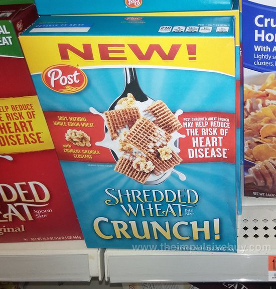 Post Shredded Wheat Crunch Cereal