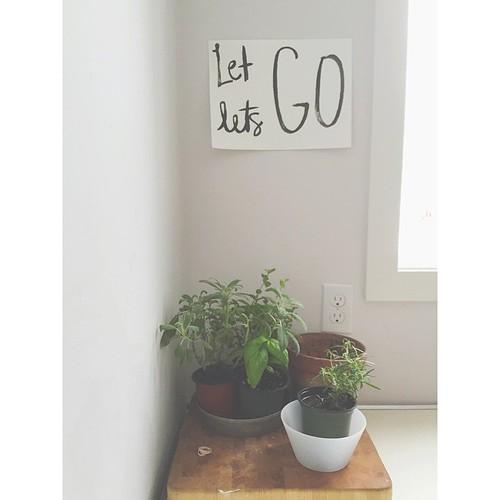 Let go, Let's go.                                                 #handlettering #brushlettering #sumiink #watercolorlettering