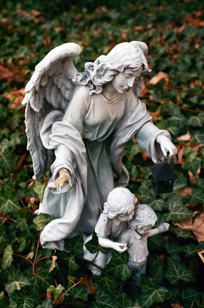 Angel lighting the way
