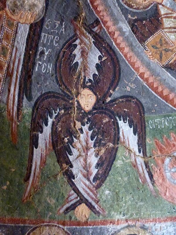 Turquie - jour 21 - Vallées de Cappadoce  - 106 - Çavuşin, Kızıl Çukur (vallée rouge) - haçlı kilise (église à la croix)