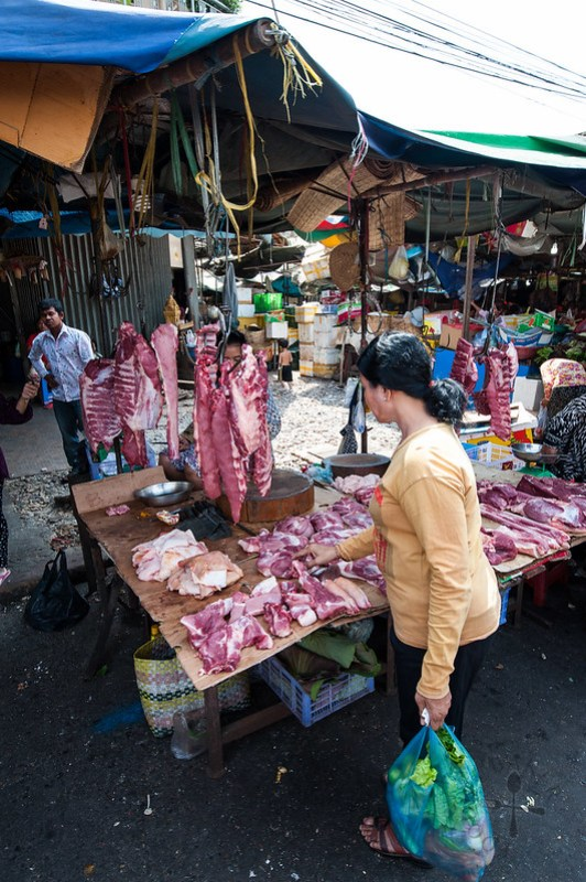 Purchasing meat from the butcher