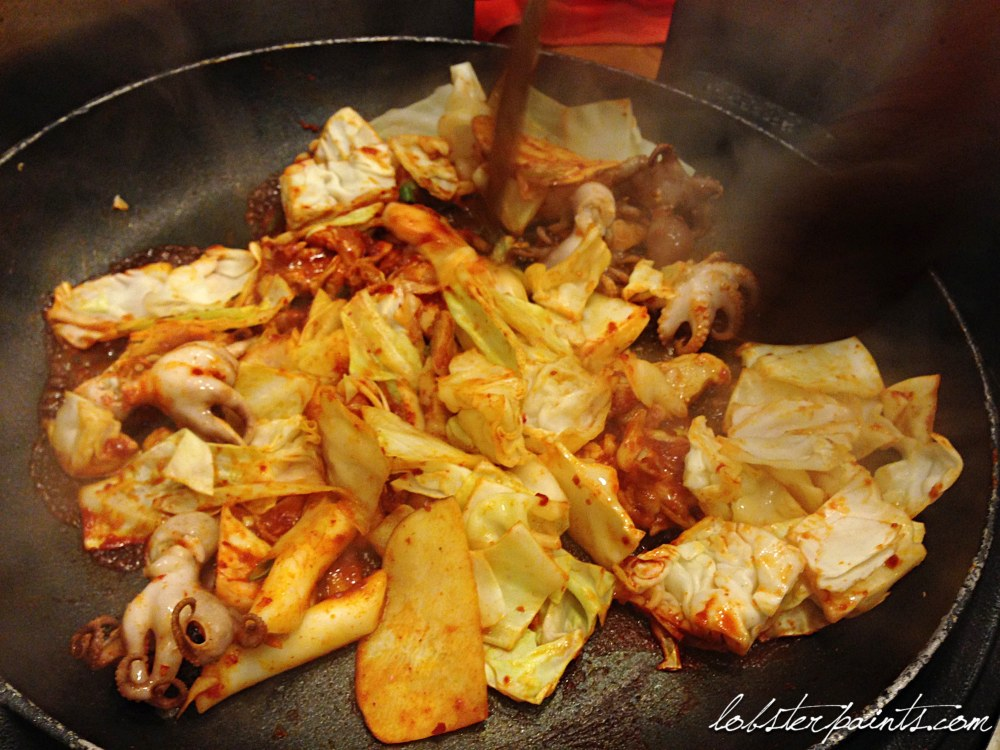 30 Sep 2014: Dinner at Haneul Bondak 하늘본닭 in Sinchon   Seoul, South Korea