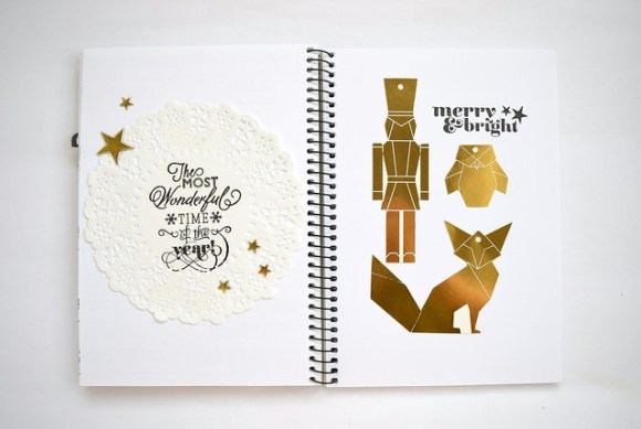 Gold for Christmas in my Get Messy art journal | Amelia Writes