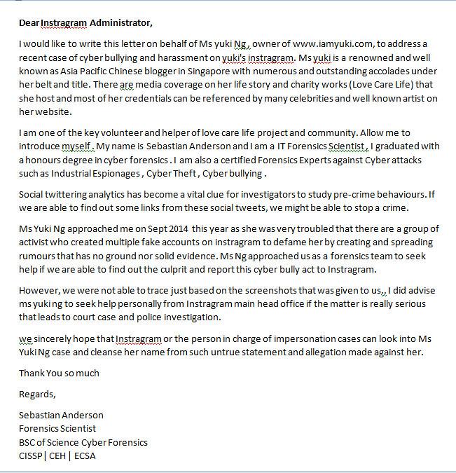 Sebastian letter