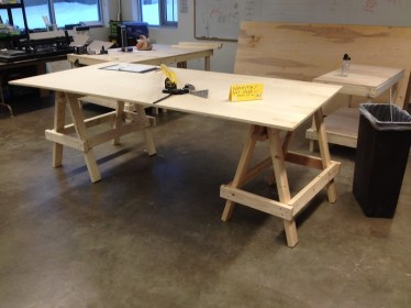 Sawhorses at work