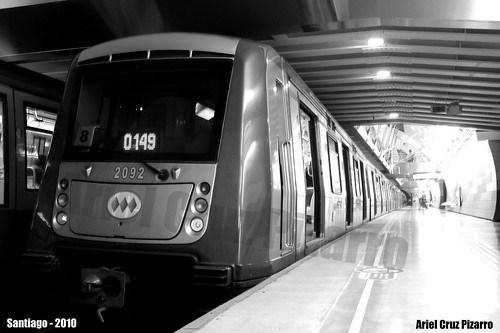 Metro de Santiago - Alstom NS2004 - Manquehue (Línea 1)