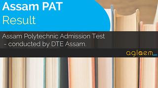 Assam Polytechnic (PAT) Result 2018