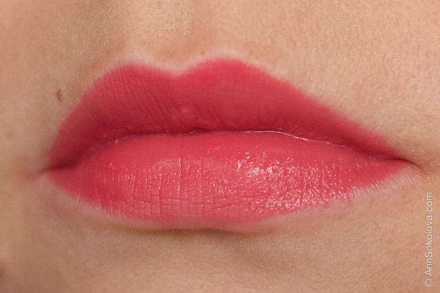 24 Lancome L'Absolu Rouge   Advanced Hydrating Lipcolor   Rouge Amour, Rose Comtesse swatches