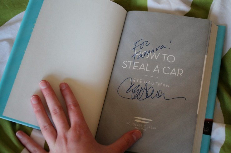 How to Steal A Car Inscription
