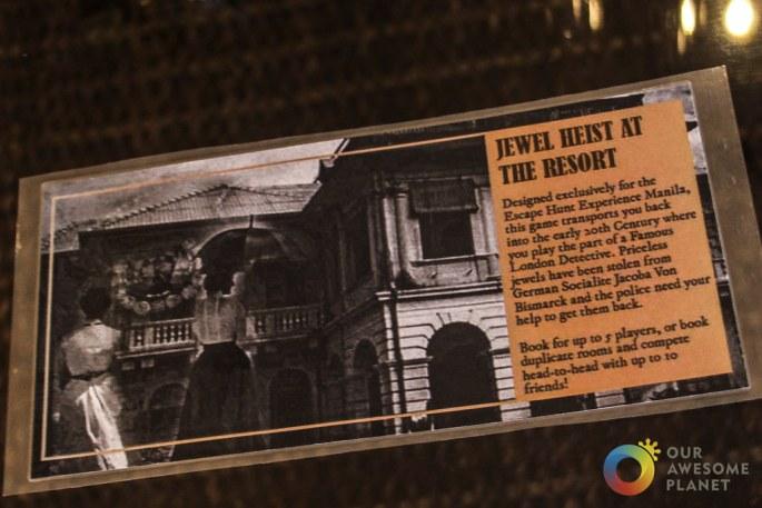Jewel Heist at the Resort : Escape Hunt PH
