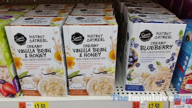 Sam's Choice Instant Oatmeal (Creamy Vanilla Bean & Honey and Creamy Blueberry)