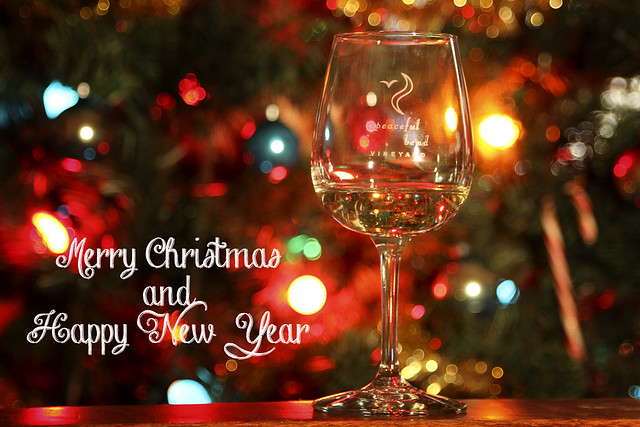 Merry Christmas And Happy New Year Peaceful Bend Vineyard
