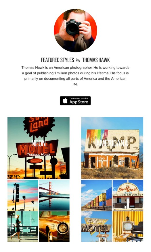 My Styles in the New Release iPhone App Priime