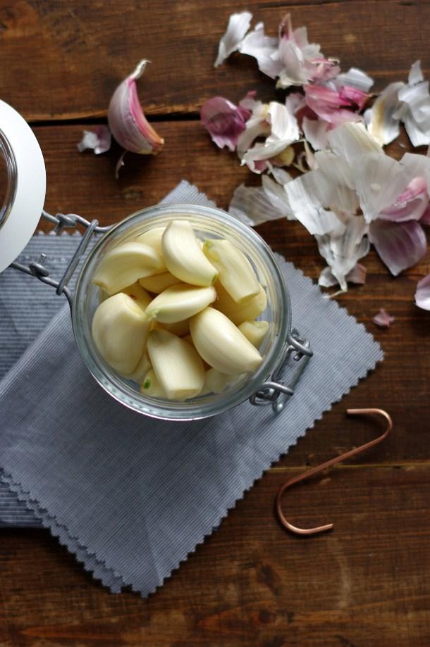Knoblauch in Olivenöl by Glasgeflüster 2 groß