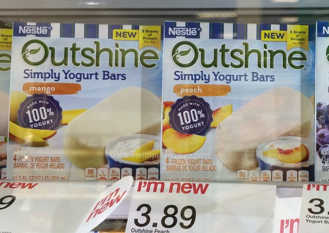 Nestle Outshine Simply Yogurt Bars (Mango and Peach)