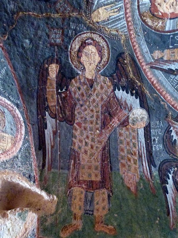Turquie - jour 21 - Vallées de Cappadoce  - 107 - Çavuşin, Kızıl Çukur (vallée rouge) - haçlı kilise (église à la croix)