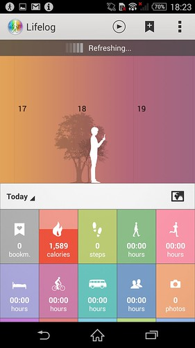 Lifelog ของ Sony Xperia Z3