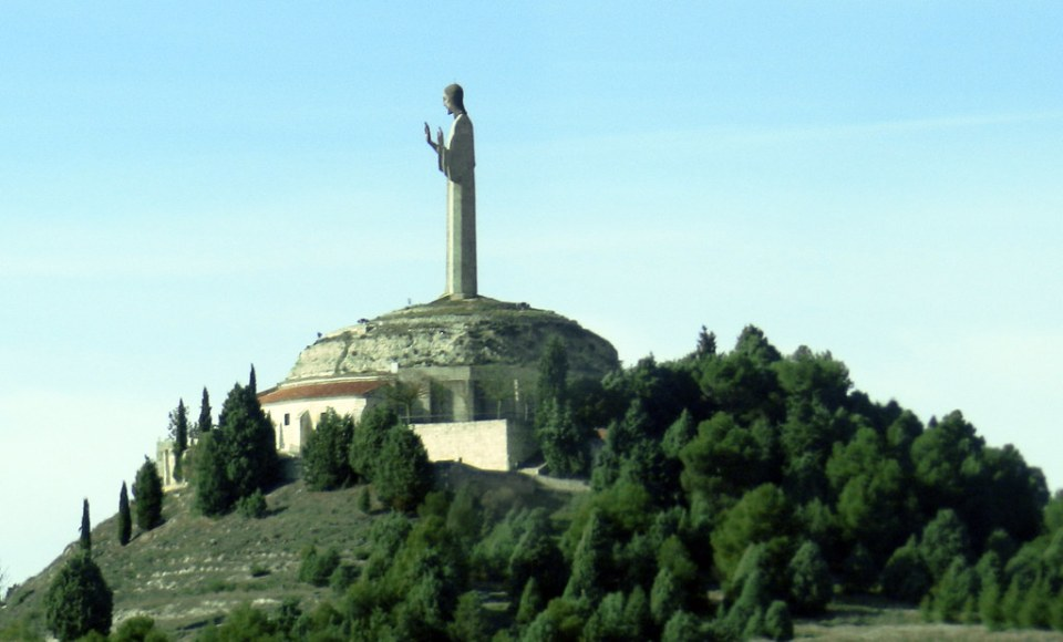 Palencia Cristo del Otero Monumento al Sagrado Corazon de Jesus 02
