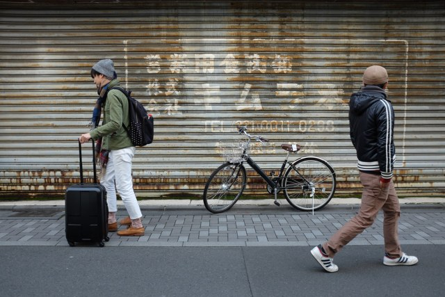 Bike and passerby 2014/12/30 X1003486