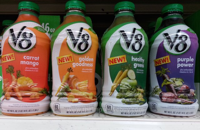 V8 Veggie Blends (Carrot Mango, Golden Goodness, Healthy Greens, Purple Power)