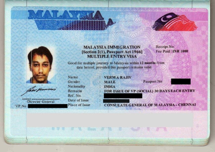 Malaysia Tourist VISA