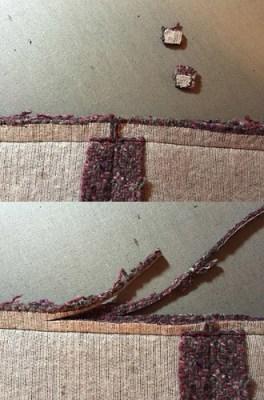 Burda plum coat seam trim