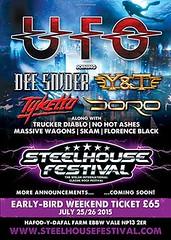 Steelhouse Festival UFO announcement poster