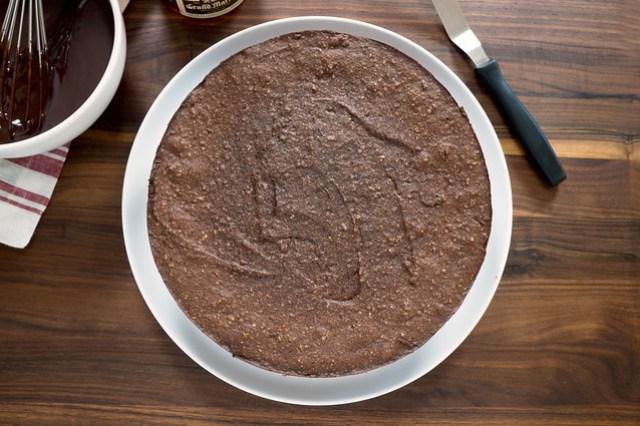 cooled chocolate hazelnut torte