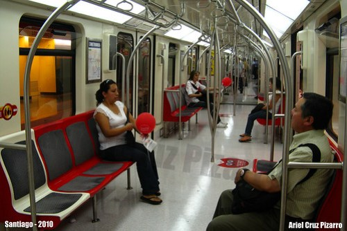 Metro de Santiago - CAF NS2007 - Los Domínicos (Línea 1)