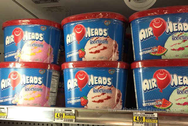 Airheads Ice Cream (Pink Lemonade, Strawberry, and Watermelon)