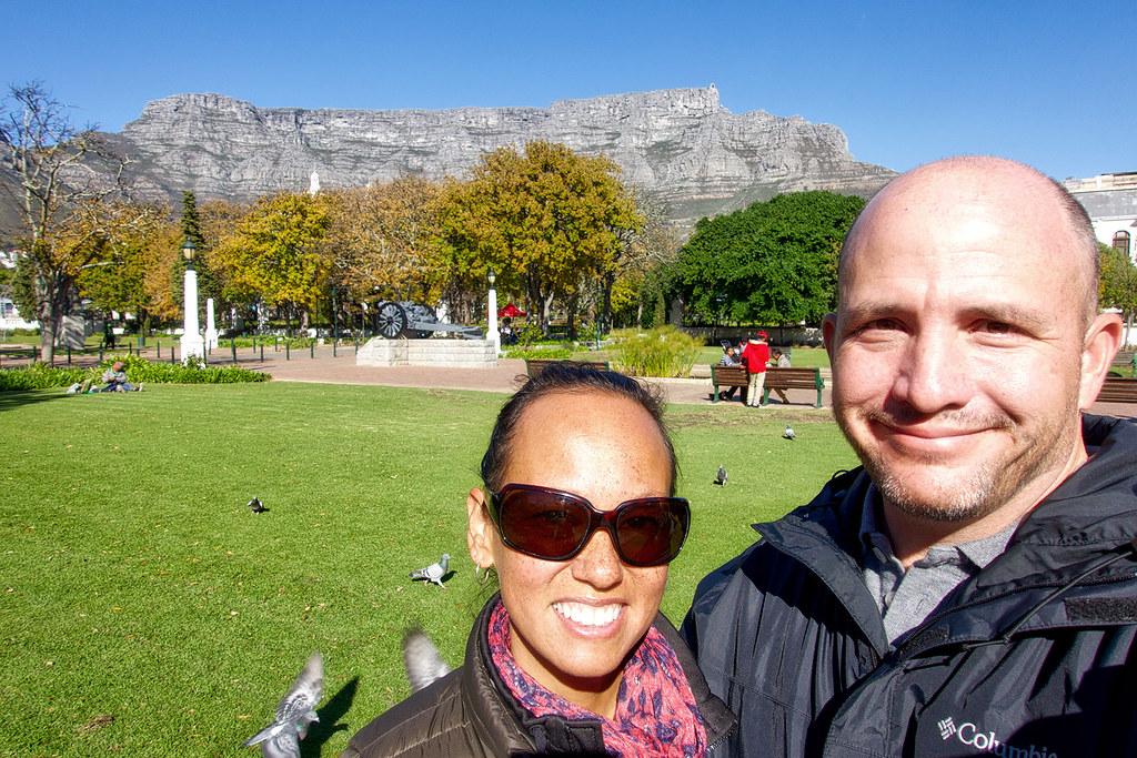 Heather, Matt and Table Mountain.