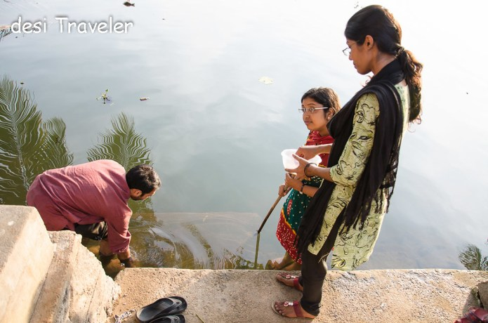 Catching fish Kerala Backwaters