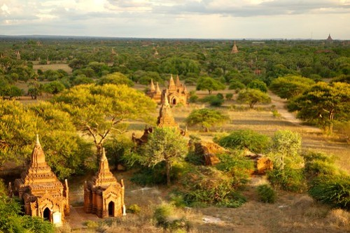 Beautiful light in Bagan