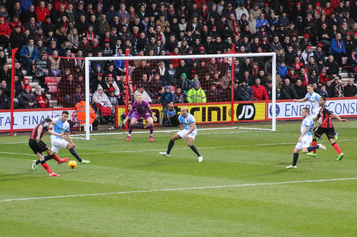 AFC Bournemouth v Blackburn...Pugh shoots