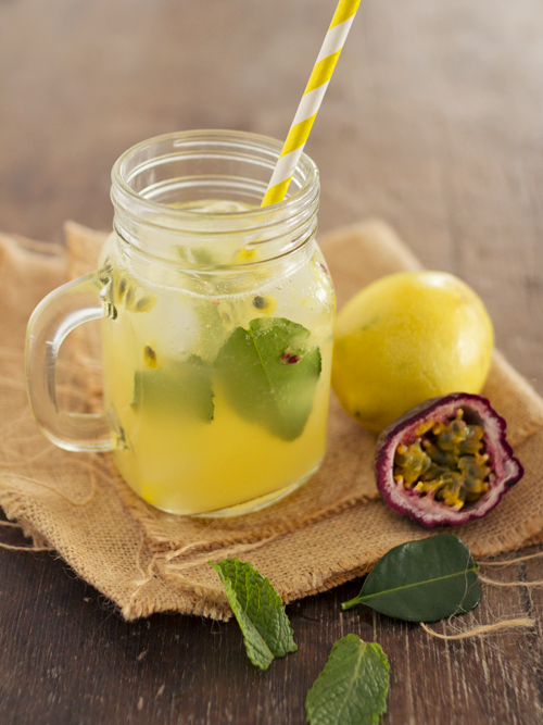 passionfruit kaffir lime lemonade