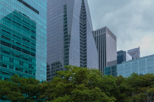 New-York-City-glass-buildings-from-the-park