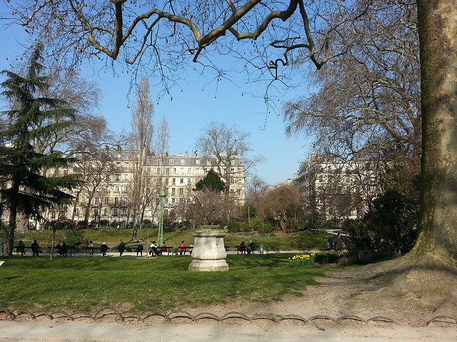 Spring in the Square des Batignolles, Paris
