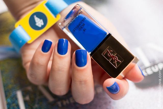 02 YSL #18 Bleu Majorelle Ann Sokolova swatch