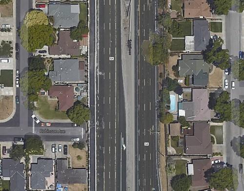San Tomas Expressway at El Camino Real, Santa Clara, California