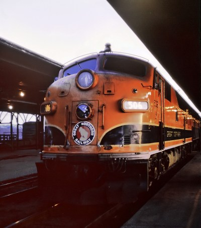 GN E7A 506 at St. Paul Union Depot (affectionately known as SPUD) on June 14, 1964